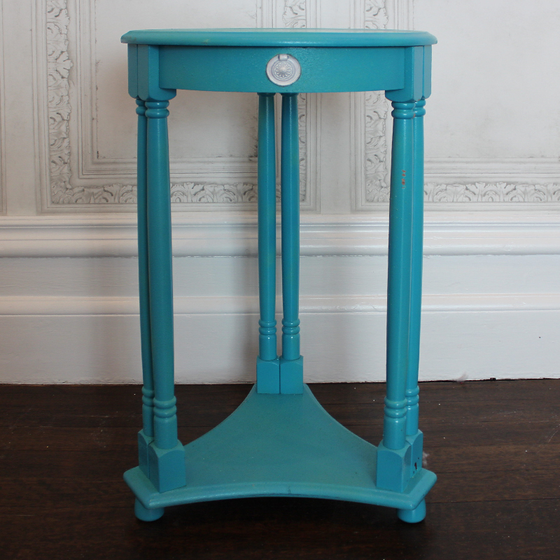 Turquoise Round Side Table