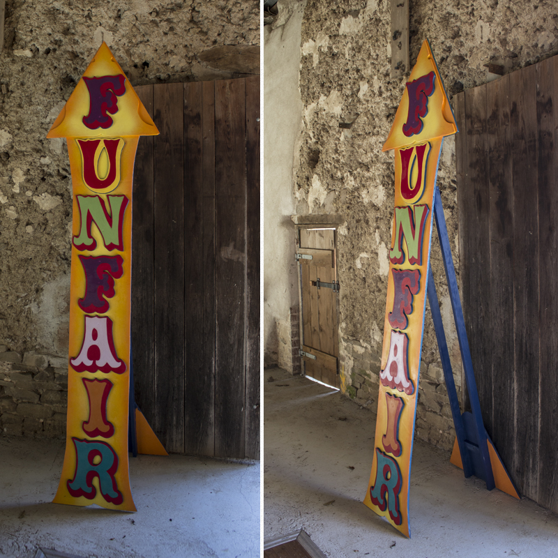Large FUNFAIR Vertical Arrow