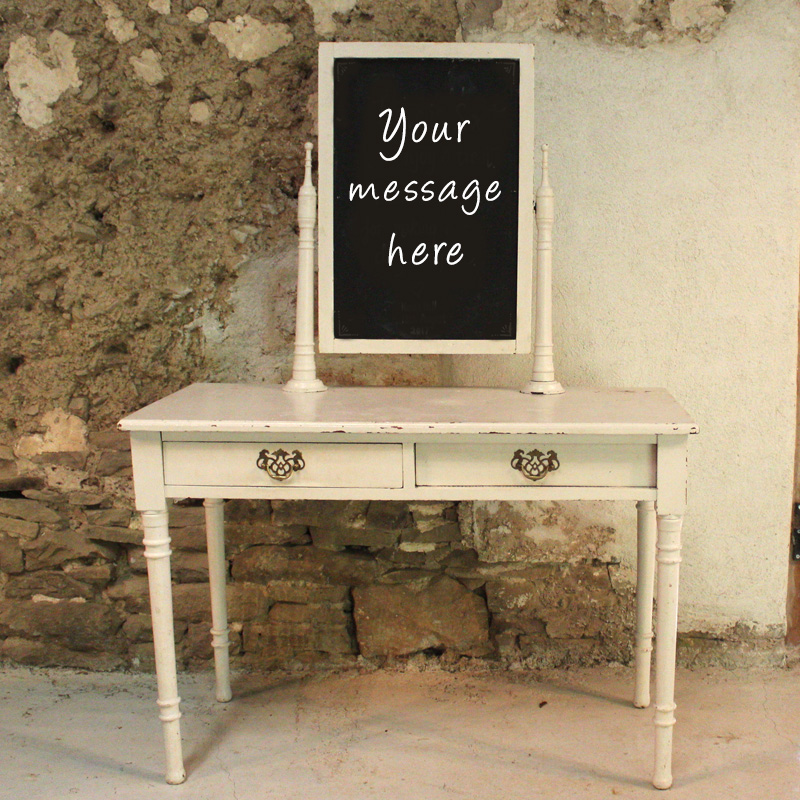 Chalkboard White Table Stand
