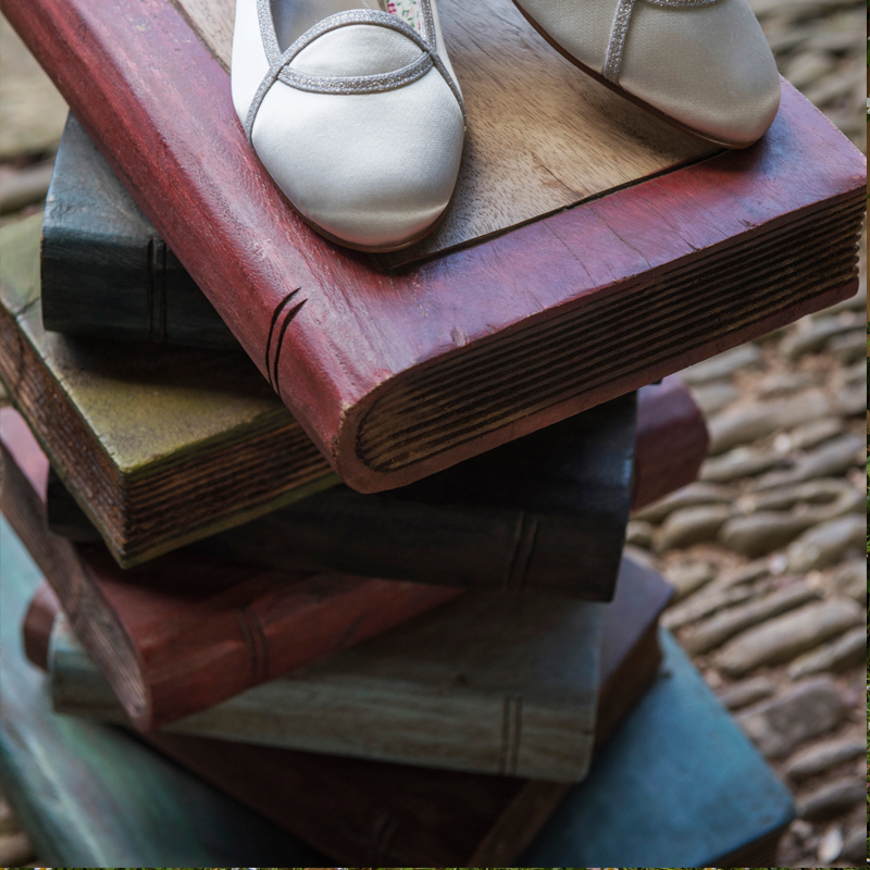 Wooden Book Stack 4