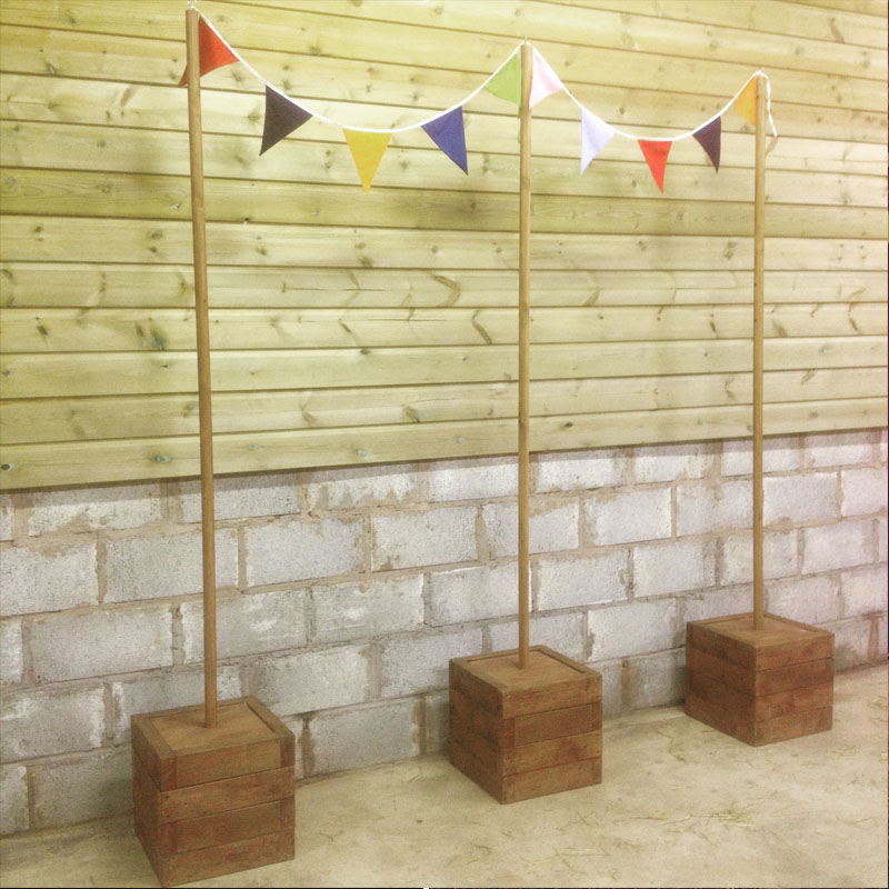 Wooden Pole for Bunting/Festoon 3