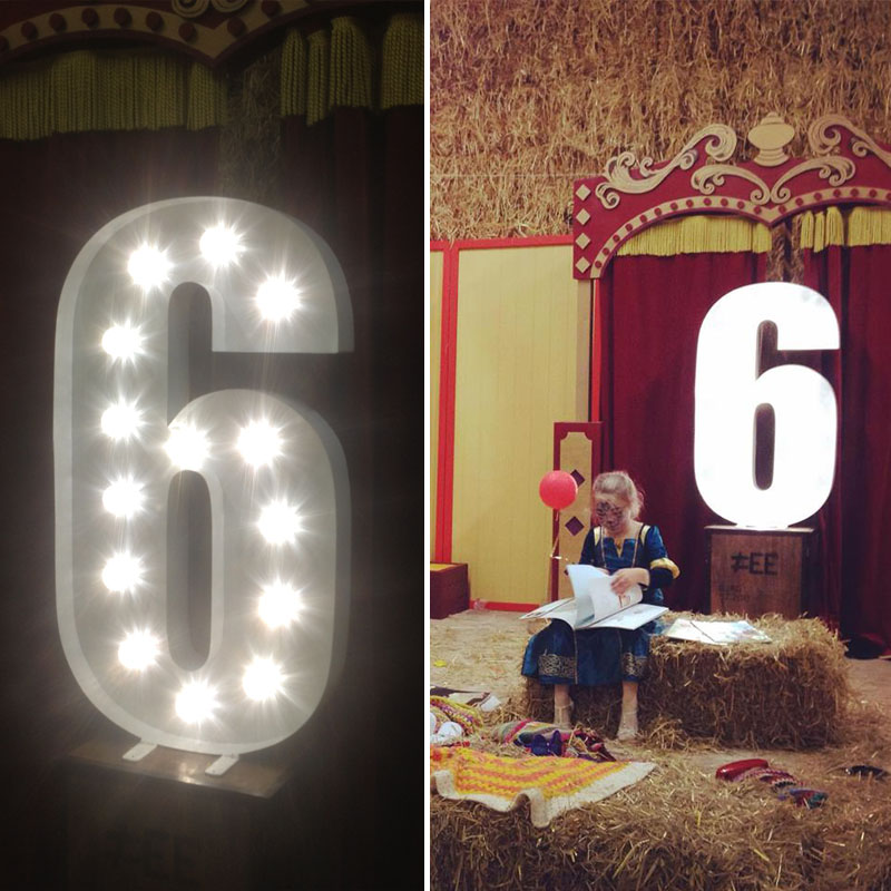Illuminated Freestanding Number