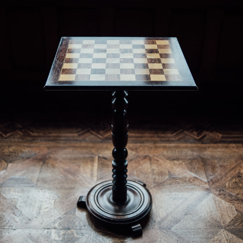 Dark Wood Chess Table