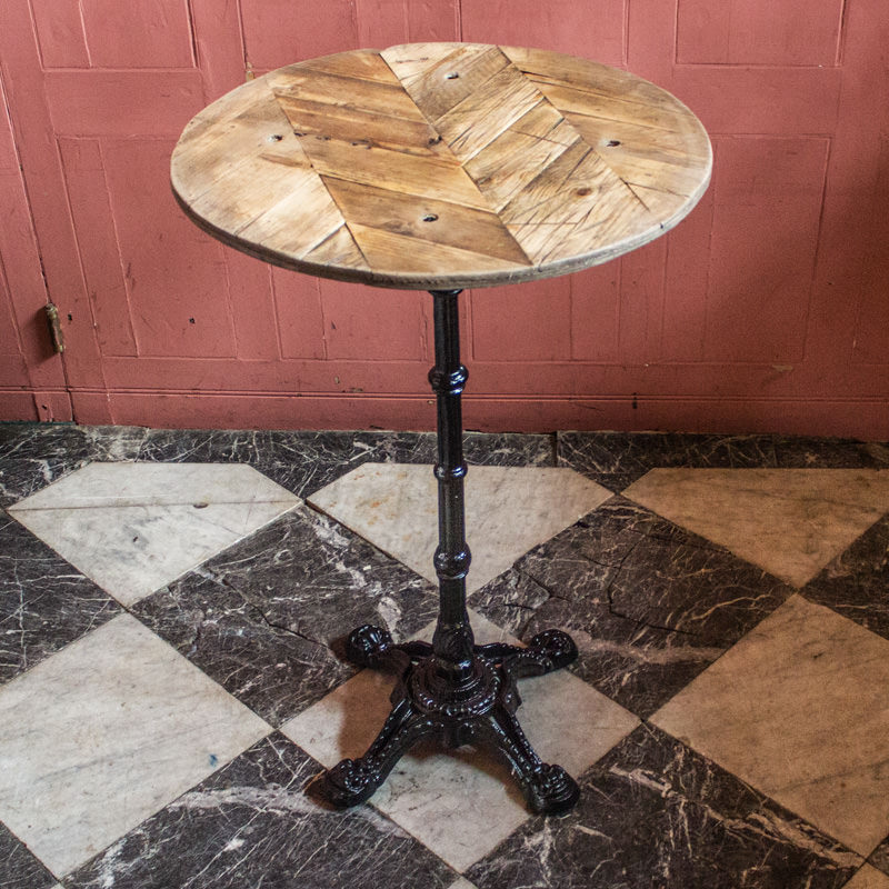 Herringbone Poseur Table