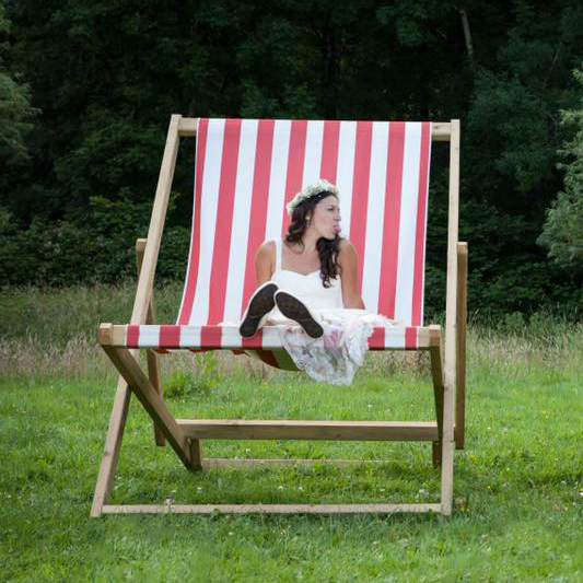 Red & White Giant Deckchair