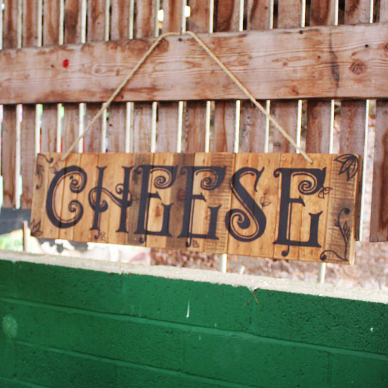 Rustic Cheese Sign