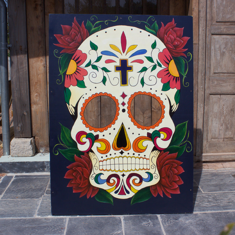 Sugar Skull Peep Board