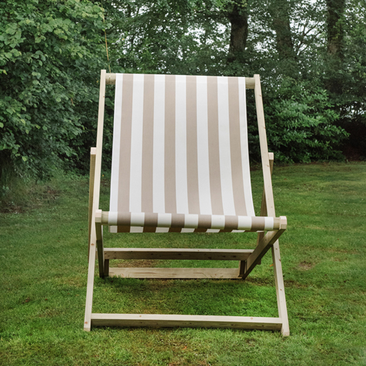 Taupe & White Giant Deckchair