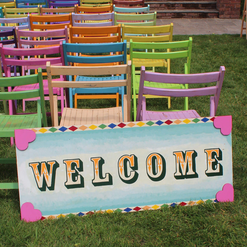 Fairground Candy WELCOME sign